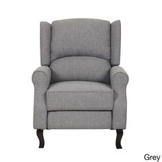 US Pride Furniture Modern Wingback Linen Fabric Accent Recliner Chair (Grey Fabric Accent Recliner Chair)