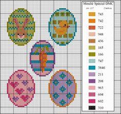 El blog de Dmc: Diagramas de pascua Dmc Cross Stitch, Cross Stitch Books, Cross Stitching, Cross Stitch Embroidery, Cross Stitch Patterns, Beading Patterns, Embroidery Patterns, Pixel Pattern, Easter Cross