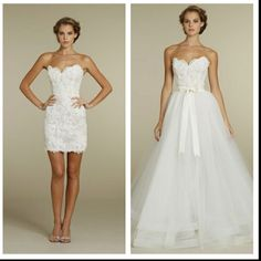 2 In 1 Wedding Dresses Chic Special Design Dress 803010