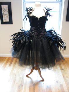 Deluxe Black SWAN DRESS Costume <3