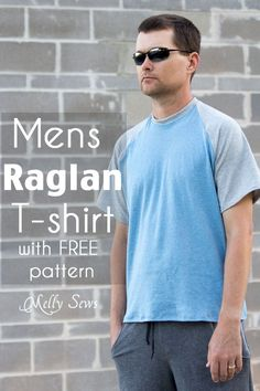 Mens Raglan T-shirt Motif et Tutorial - Faites un T-shirt raglan avec ce modèle gratuit - Melly Coud