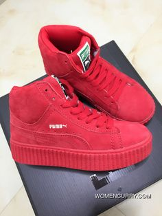 3c8478be4286fa Puma X Rihanna WMNS Creeper Wheat Gum Red Women Discount