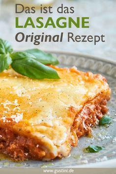Lasagna recipe - Original from Italy - Gustini - Passione italiana. - Lasagna recipe – Original from Italy – Gustini – Passione italiana. Lunch Recipes, Pasta Recipes, Crockpot Recipes, Vegetarian Recipes, Dinner Recipes, Dessert Recipes, Lasagne Recipes, Lasagna Recipe With Ricotta, Recipe Fo