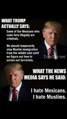 Truth, why can't everyone see he wants to help America? Not a racist bone in his body.