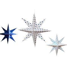 These hanging stars may look store-bought, but they're easy to cut and fold. A great DIY craft project!