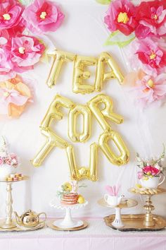 Yes, you read that right: Tea for Two. And, yes, my daughter will in fact be THREE in just a few weeks. And, yes, I am JUST getting around to blogging about her sweet tea party that we threw her in ho
