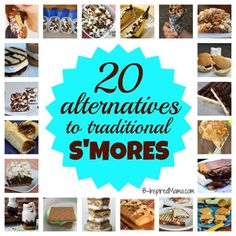 20 Alternatives to Traditional S'Mores at B-InspiredMama.com #smores #camping #funfood
