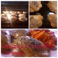 Empanadilhas de requeijão e espinafres