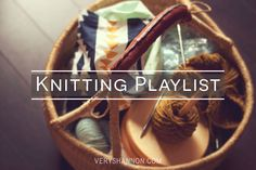 Summer Sweater Knit Along Knitting Music Playlist || VeryShannon.com #sskal14 #knitting #music #playlist