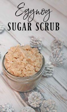 Sugar Scrub Diy, Diy Scrub, Sugar Scrub Recipe, Homemade Eggnog, Homemade Gifts, Diy Holiday Gifts, Diy Gifts, Holiday Fun, Diy Presents