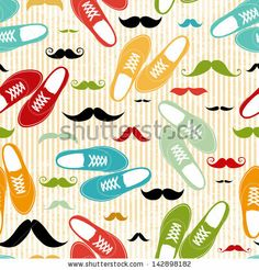 Retro shoes seamless vintage background by chereshneva, via Shutterstock