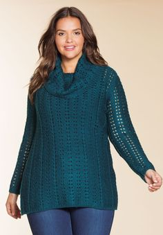 This cowl neck sweater is the perfect way to stay warm when the cold hits! #fashion #style