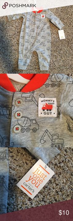 Brand new baby boy one piece onesie Ever worn! With tags! Carter's One Pieces Bodysuits