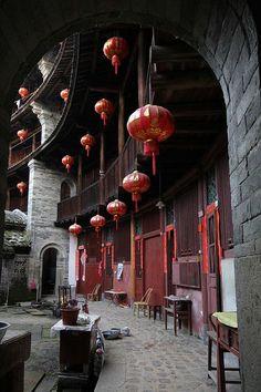 """Vivienda """"Fujian Tulou de la paz de la mente con una excelente defensa en China de Fujian"""