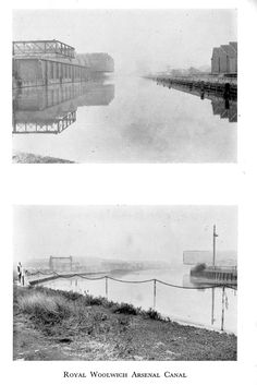 Royal Arsenal Canal 1964 From IWA Bulletin 71 London Pictures, Industrial Revolution, Arsenal, River, History, Outdoor, Outdoors, Historia, Outdoor Games