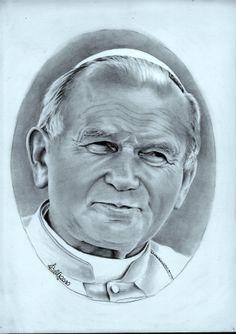 Jan Pawel 11 is an incredible Polish pope Papa Francisco, Juan Pablo Ii, Powerpoint Background Design, Pope John Paul Ii, Name Tattoos, Kirchen, Roman Catholic, Ciel, Sketches