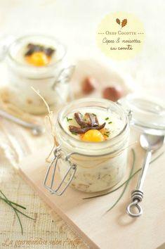 oeuf cocotte aux cèpes, noisette & comté | egg {mushrooms, chestnuts & cheese} #vegetarian  http://www.la-gourmandise-selon-angie.com/archives/2013/10/07/28159283.html