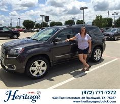 "https://flic.kr/p/vpjQjz | Congratulations to Jackilyn Abbott on your #Gmc #Acadia from Jeffery Clifton at Heritage Buick GMC! #NewCar | <a href=""http://www.heritagegmcbuick.com/?utm_source=Flickr&utm_medium=DMaxxPhoto&utm_campaign=DeliveryMaxx"" rel=""nofollow"">www.heritagegmcbuick.com/?utm_source=Flickr&utm_mediu...</a>"