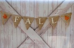 Fall Burlap Banner Fall Banner Fall Garland Fall by SwankyPartyBox