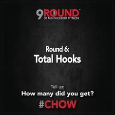Happy Monday, 9Rounders!  The challenge this week is TOTAL HOOKS! We want to hear how many you get. Leave us a comment to let us know!  #CHOW #9Round #9Rounder #challenge