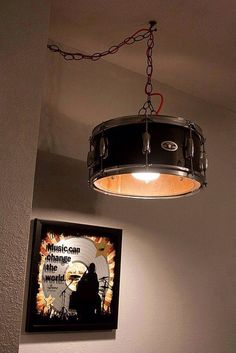 Drum hanging ceiling light