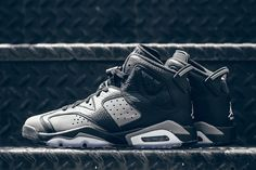 Kids-exclusive Air Jordan colorways usually go with an array of colorful and bright options, but this latest look for the Grade School Air Jordan 6 goes for a decidedly more muted look. In all grey and black, these aren't your … Continue reading → All Jordans, Newest Jordans, Snicker Shoes, Adidas Runners, Popular Sneakers, Kicks Shoes, Shoes Sneakers, Best Basketball Shoes, Adidas Shoes Outlet