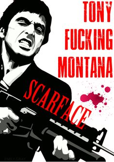 SCARFACE MOVIE POSTER AL PACINO TONY MONTANA A4 A3 SIZE CLASSIC FILM GUNS
