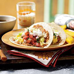 Top-Rated Egg Recipes | Egg and Cheese Breakfast Tacos with Homemade Salsa | CookingLight.com