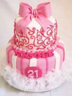A Super Pink Cake  project on Craftsy.com