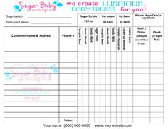 Customized Fundraiser Order Form  Digital File Only  Customize With Your  Information U0026