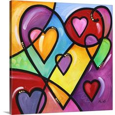 Canvas On Demand 'A lot of heart II' by Eric Waugh Painting Print on Canvas Size: