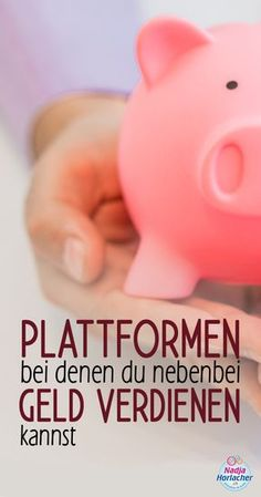 Platforms where you can earn money on the side - Nadja Hoo Make Money Blogging, Money Saving Tips, Make Money Online, How To Make Money, Money Plan, Earn Money, Budget Planer, Mind Tricks, Pinterest For Business