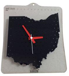 Black Ohio Clock – Be Ohio Proud