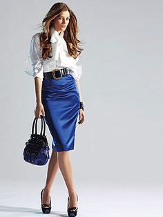 Pencil skirt - narrow with slit