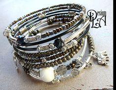 132 Ensemble de 2 Bracelets mémoire de gitane de style. par DesignLA