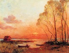 Sunset On The Brfiere - Ferdinand Loyen du Puigaudeau