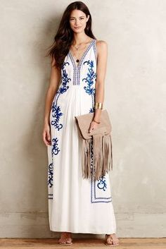 Ranna Gill Aska Embroidered Maxi Dress #anthrofave