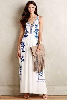 Ranna Gill Aska Embroidered Maxi Dress #anthrofave