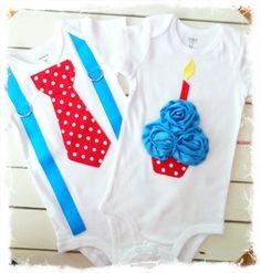 Boy Girl TWIN Dr. SUESS Boys First BIRTHDAY Onesie-Brother Sister Birthday Set-Cupcake Onesie with m2m Tie Onesie Set