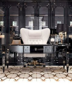Liking the cabinets, the rest of the room style is interesting but I absolutely do not like the chair!