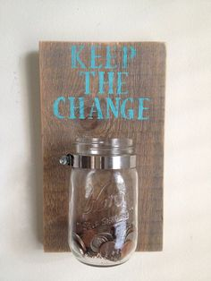 KEEP THE CHANGE Laundry room decor by shoponelove on Etsy, $34.00