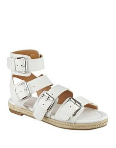 Kendall + Kylie Jackie Gladiator Sandals Women's White 10