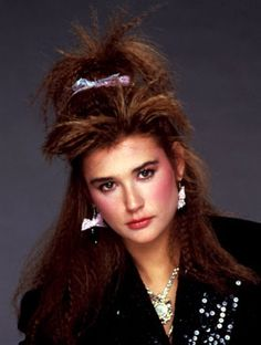 Demi Moore in the 80's