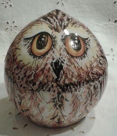 Civetta contenitore/ portabonbon in maiolica.Interamente realizzata a mano, by ilciliegio, 13,00 € su misshobby.com