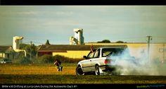 BMW E30 drifting at Lurcy-Lévis (France)