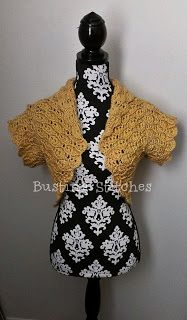 Busting Stitches: Amber Crochet Bolero with sleeves (has link to same pattern without sleeves)