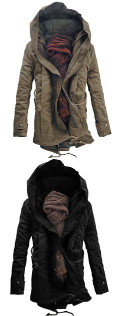 Hooded Double Zip Up Padded Parka Coat Fall Fashion Outfits Fall Winter Outfits, Winter Wear, Autumn Winter Fashion, Fall Fashion, Looks Style, Looks Cool, Style Me, Vintage Accessoires, Sweatshirts