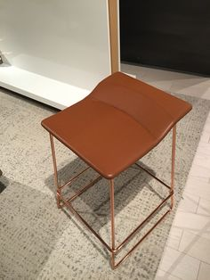 Last Minute stool with new copper base
