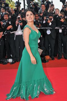 "Salma Hayek arrives at ""Indiana Jones 4"" - 61st Annual Cannes Film Festival Premiere"