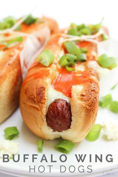 Buffalo Wing Hot Dogs